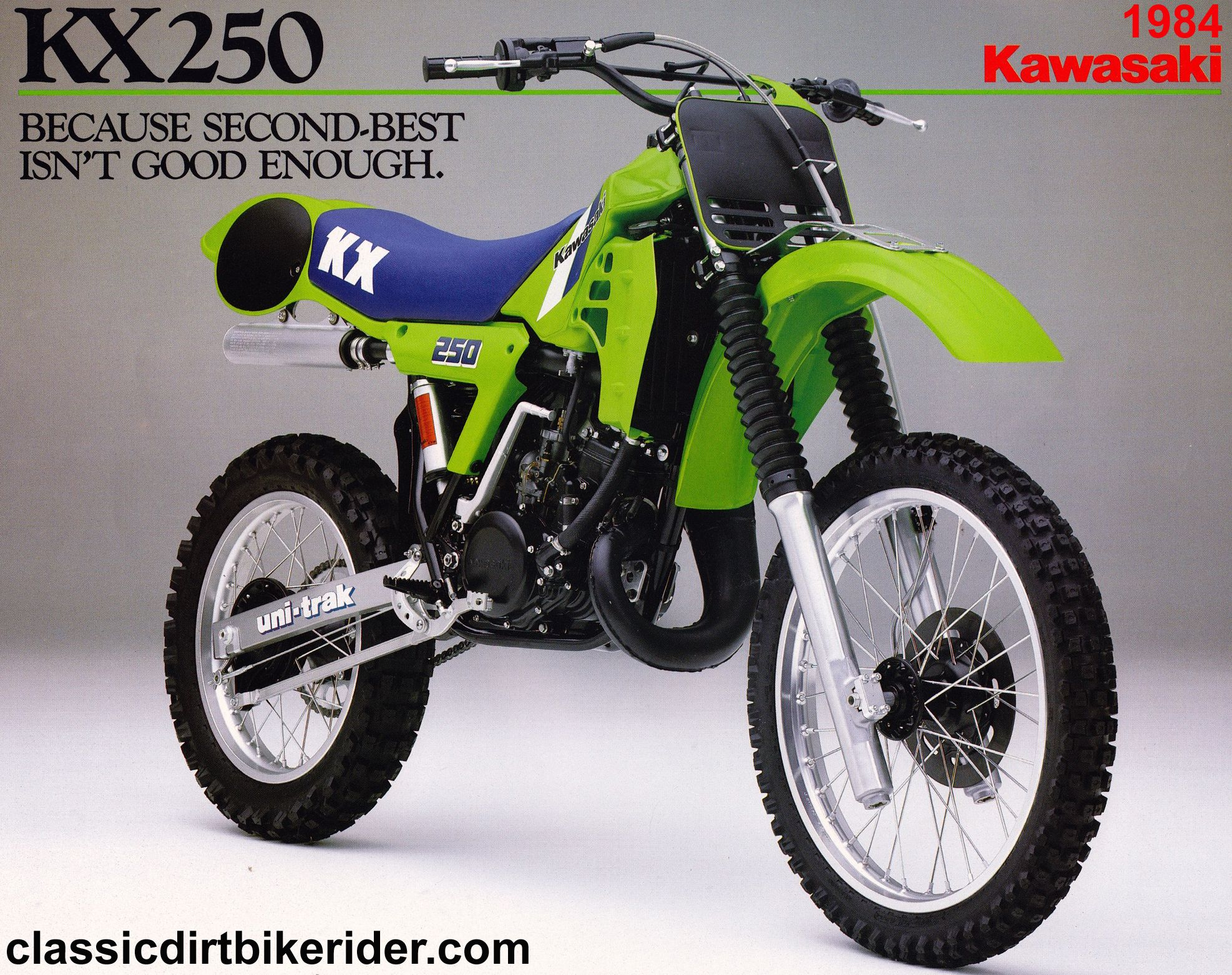 1984 kawasaki kx250 advertisement kawasaki kx motorcycles rh pinterest co uk 1980 KX 250 1992 KX 250