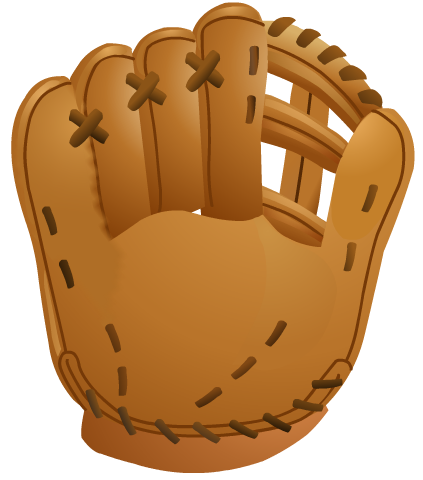 Baseball glove. Free softball and clip