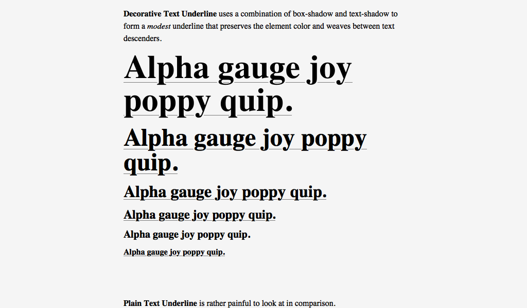 Decorative Text Boxes Decorative Text Underline Code Snippet Combo Of Boxshadow And