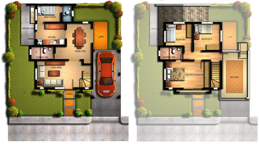 2 Storey Home Plan For Narrow Land House Design Philippine Houses Modern Minimalist House