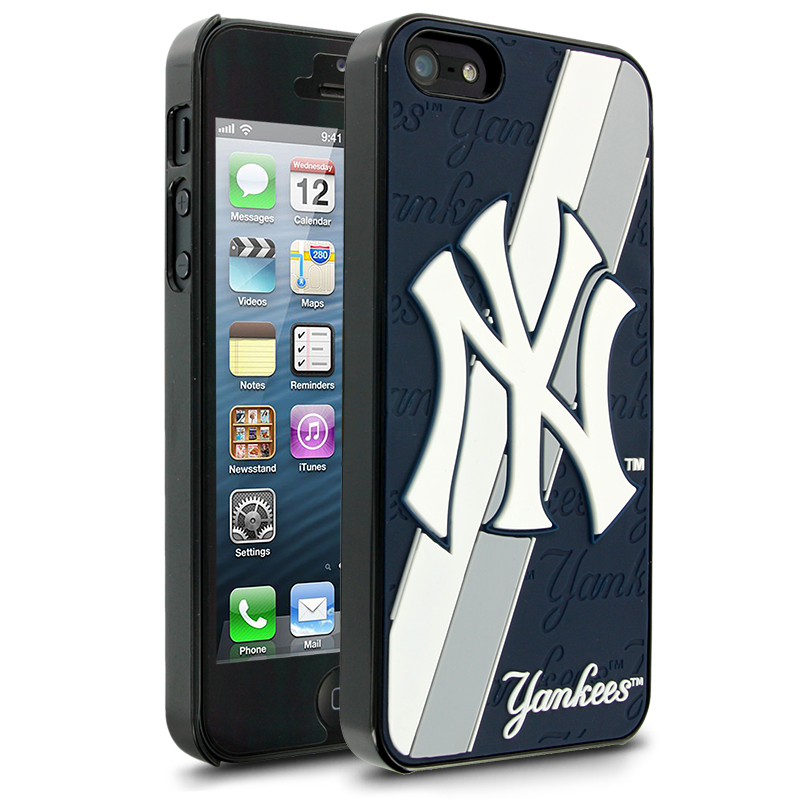 new style 30dd6 54fa1 MLB New York Yankees Hard Case with Logo for Apple iPhone 5 | MLB ...