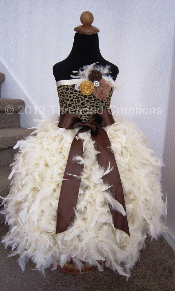 Feather Dress  Leopard Dress  Feather Tutu