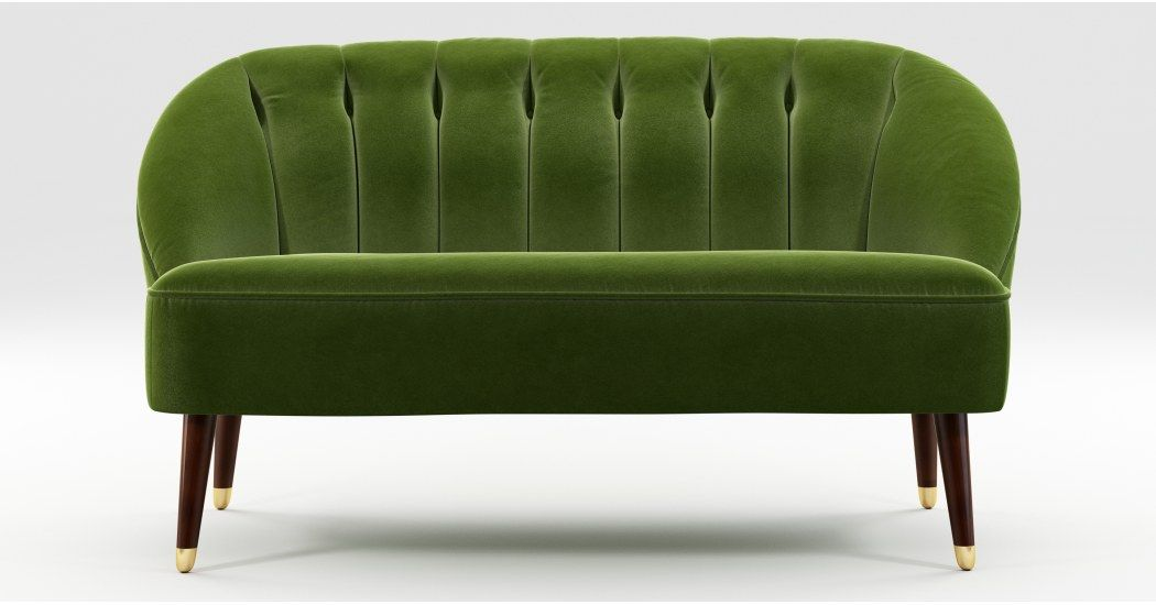 Made Sofa Blaugrun 2 Sitzer Sofa Sofa Und Samt