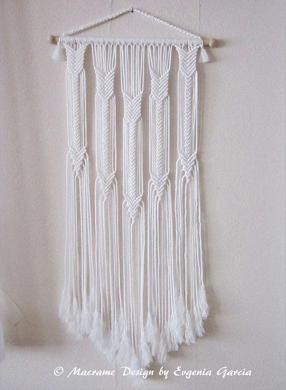 Macrame flechas del colgante de pared hecha a mano macrame - Colgantes de macrame ...