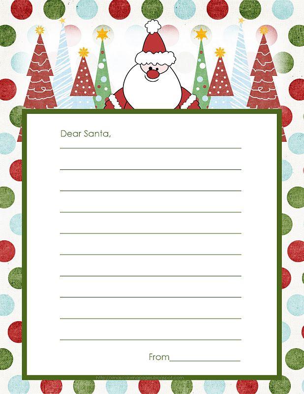 FreeLettersToSantaJpg  Christmas Printable Letters ToFrom