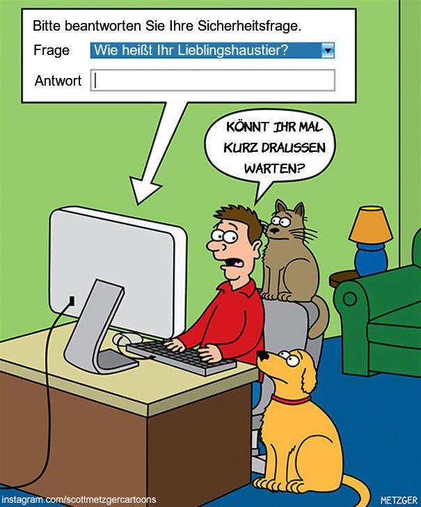 Katzen Cartoon Lustig