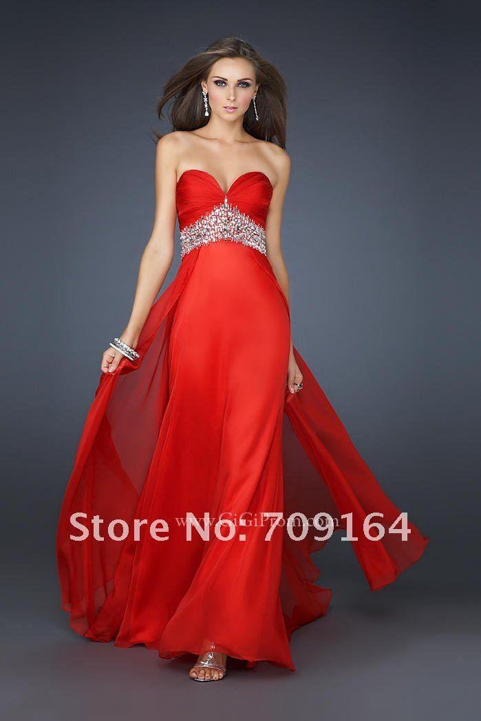 vestidos rojos largos de fiesta vestido de noche fh078