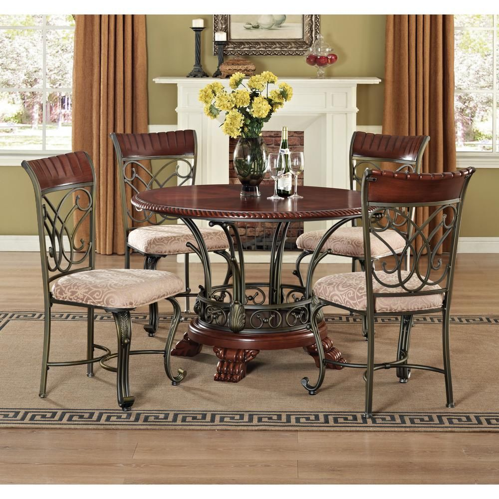 ACME Furniture Omari Bronze Metal Dining Chair (Set of 2 ...