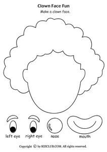 Clown Face Fun Worksheet For Pre K Kindergarten Carnevale