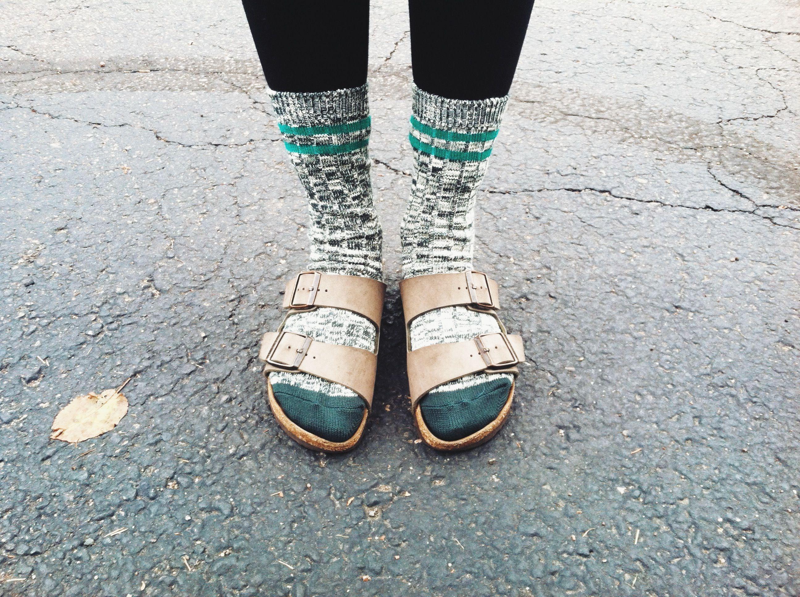 Birkenstocks and socks. I'm doin it. I am embracing the grandpa culture