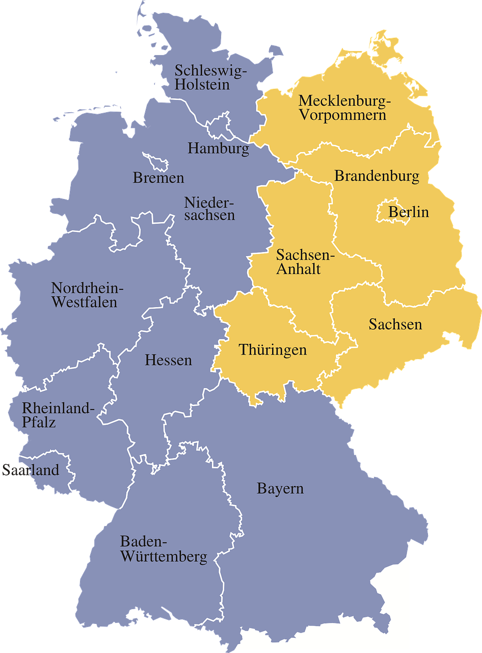 Map Of Germany With Regions.Germany Map Germany Regions Germany Map Germany Ge Germany Map