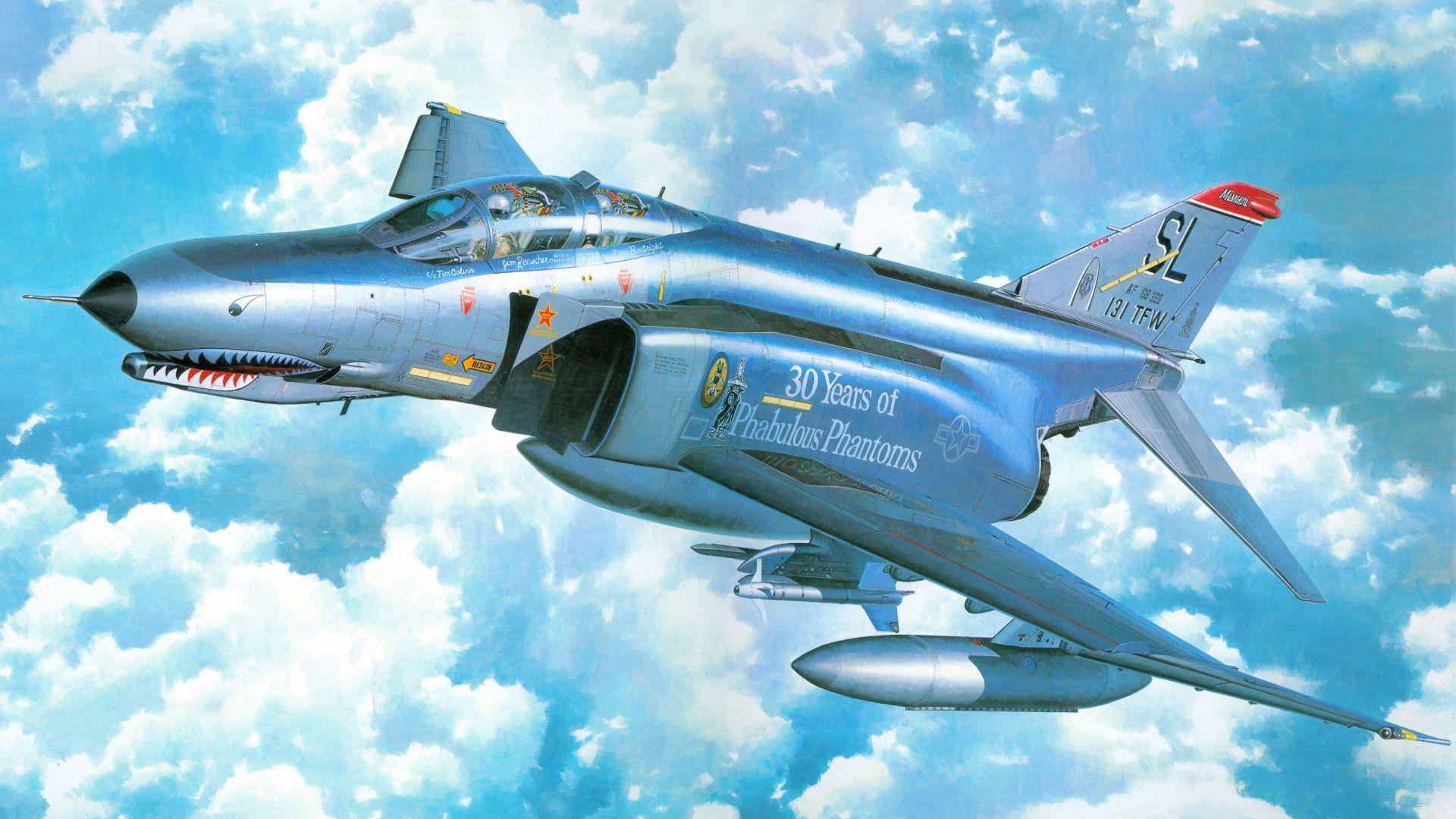 Обои phantom ii, истребитель. Авиация foto 15