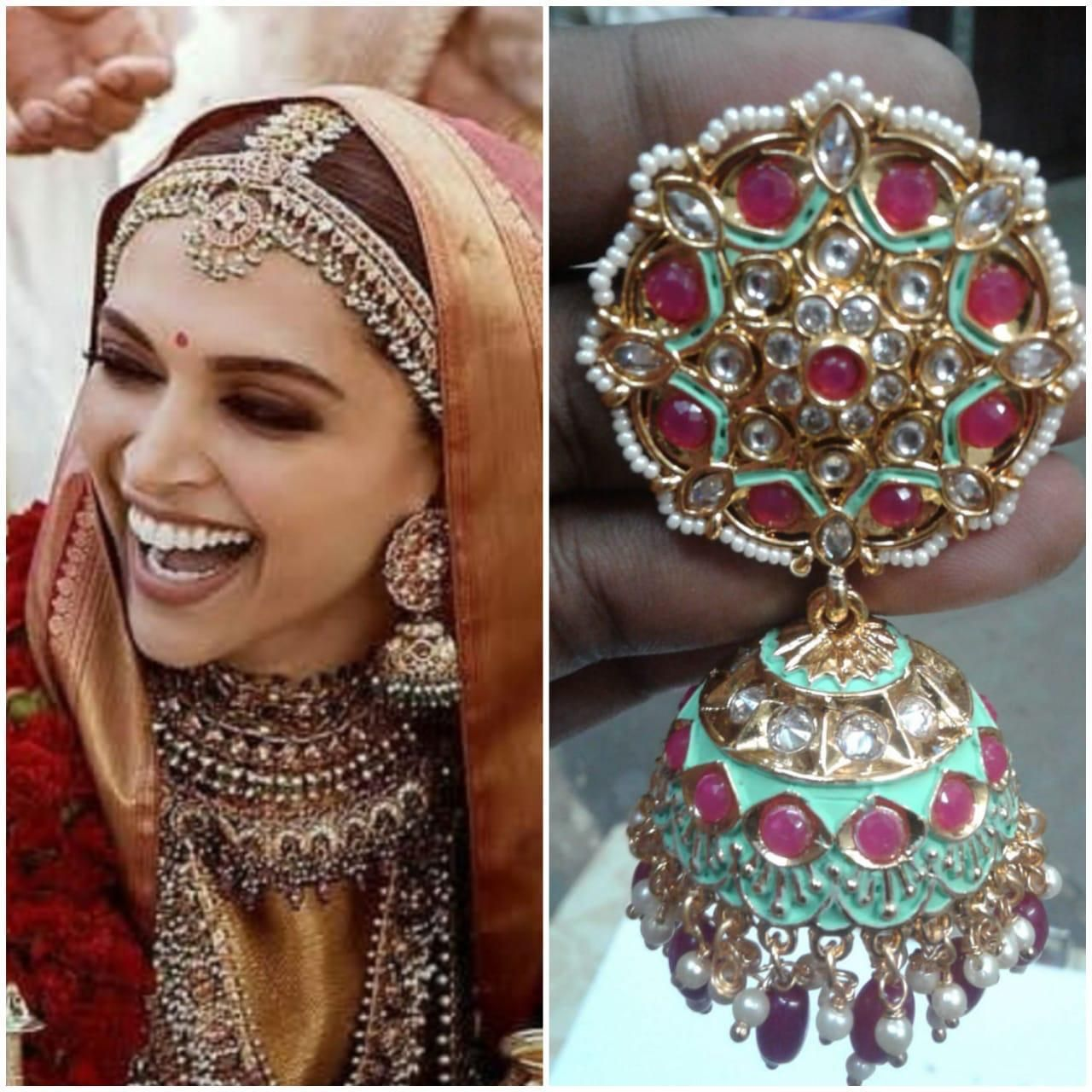 Deepika Jhumka Blogger Wedding Bridal Jewelry Jhumka