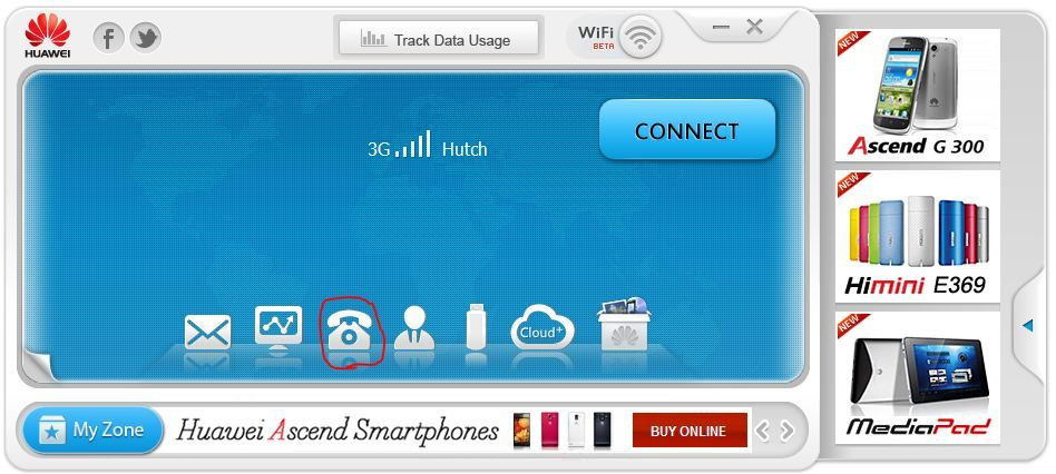 How to make a voice call over HSDPA dongle Voice call