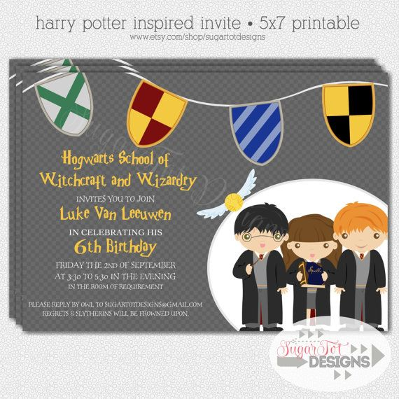 harry potter birthday party invitation wizard and witch birthday, invitation samples