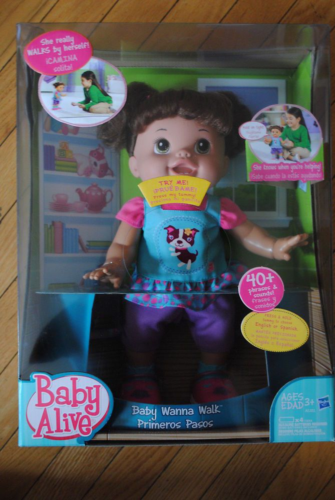 New Baby Alive Toy Doll Wanna Walk Walking Interactive Latina Spanish Baby Alive New Baby Products Heart For Kids