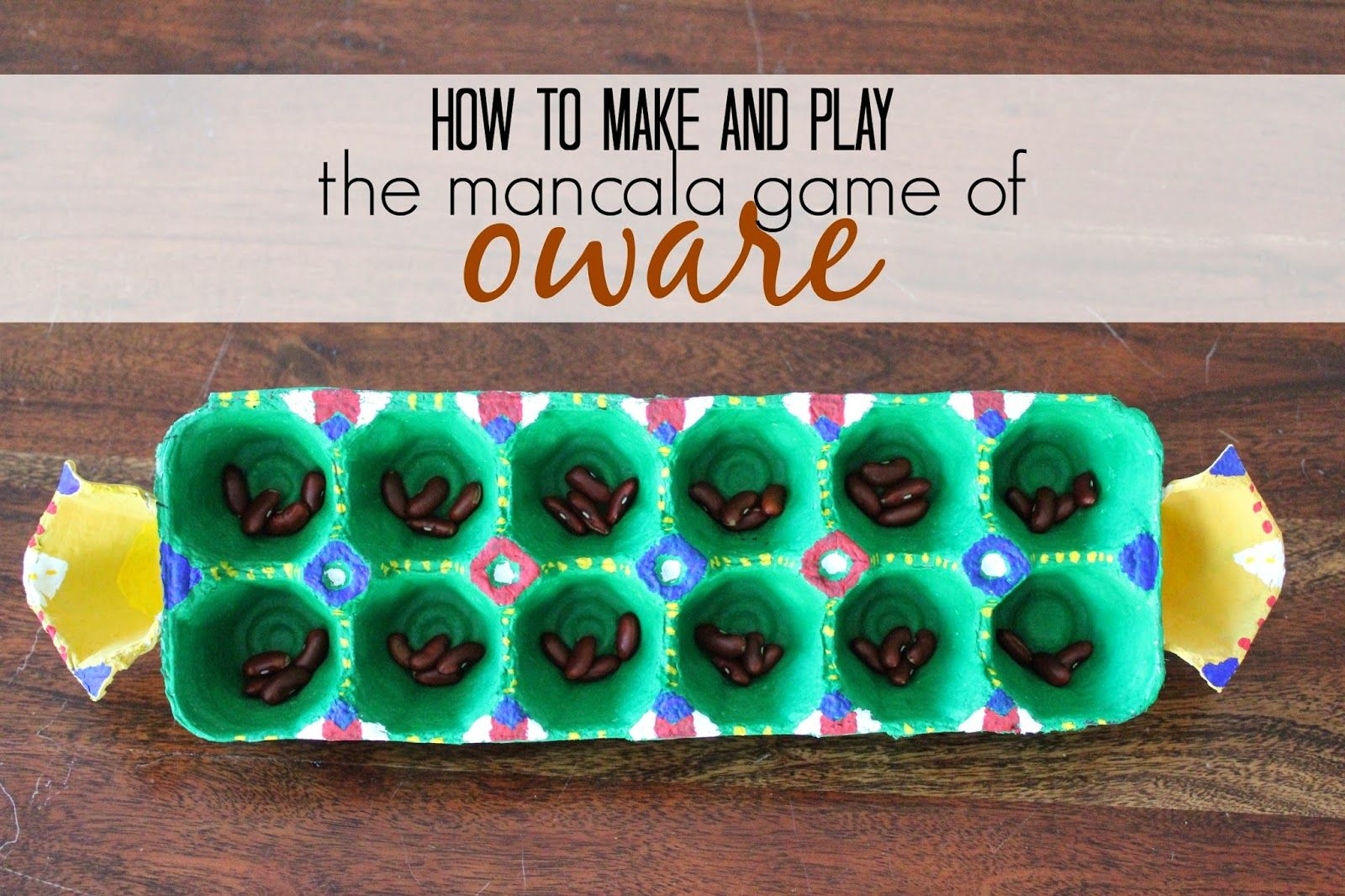 West African Game How To Make And Play The Mancala Game Oware African Crafts African International Craft