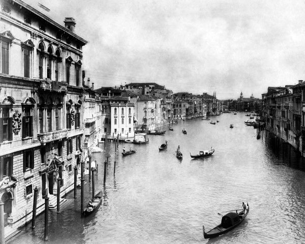 Photo of Framed Print-Grand Canal, Venice, Italy-22″x18″ Wooden frame with mat made in the USA