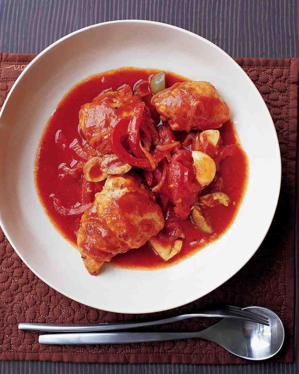 Estofado de pollo Muslos