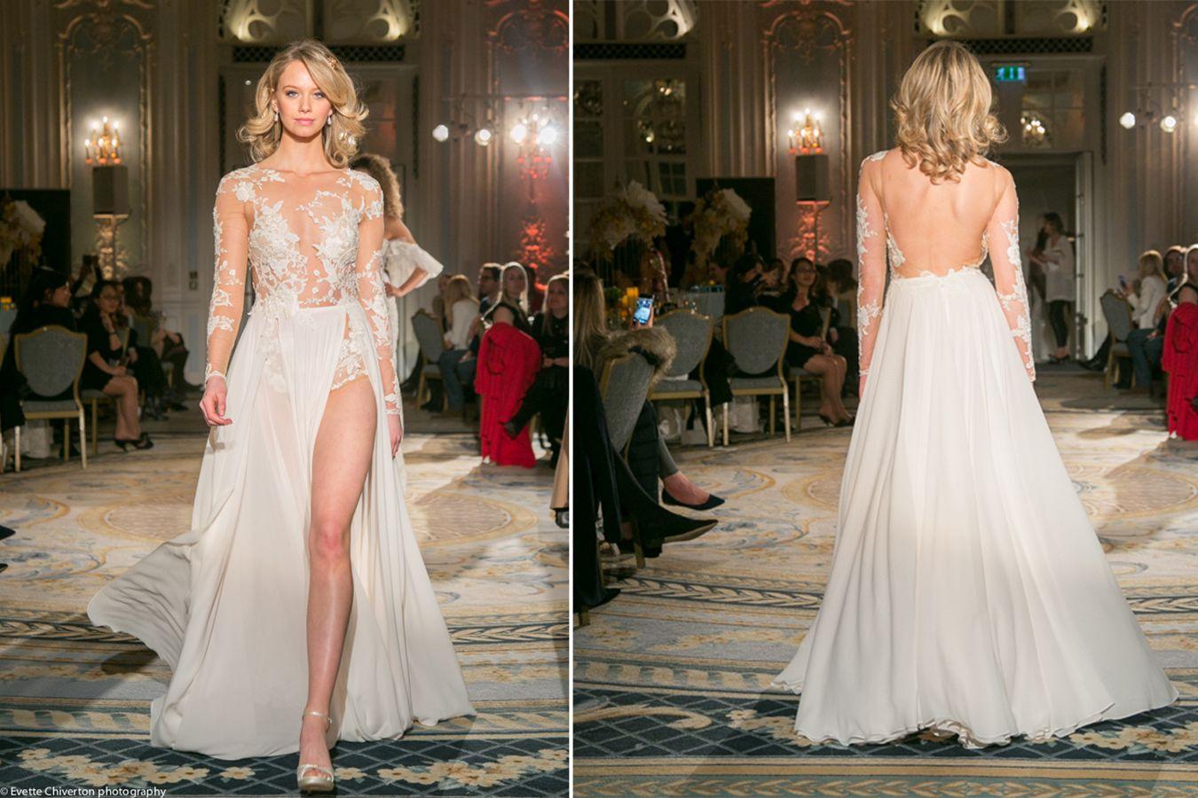 Hayley paige dori wedding dress  Elegant Berta bridal gown at the London savoy with the wedding club