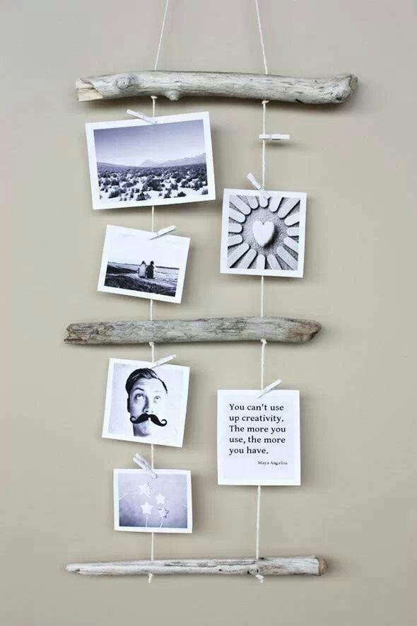 Fotos Aufhängen Kreativ : fotos fotos aufh ngen treibholz deko und diy bastelideen ~ Watch28wear.com Haus und Dekorationen