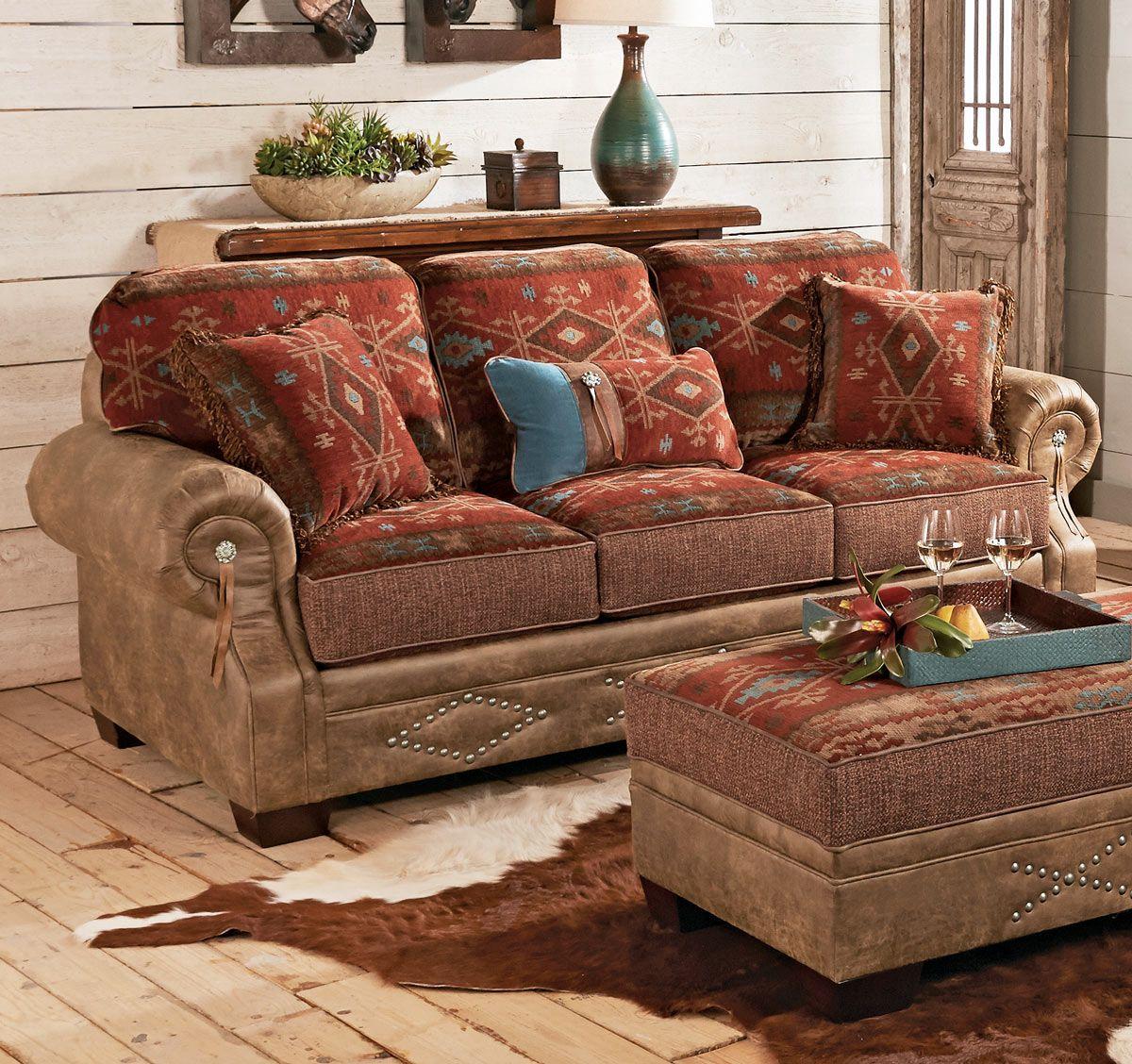 Ranchero Southwestern Sofa   Living Room   Pinterest ...