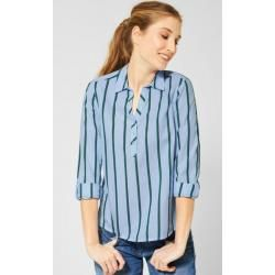 Photo of Cecil – Chambray blouse with stripes in Blouse Blue Cecil