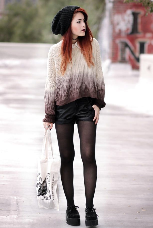 Keeping Punk In The Cold (With images) | Fashion, Grunge ...