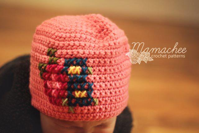 EASY: Free Crochet Pattern - Cross Stitch Hat | Manualidades ...