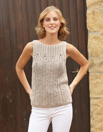 Free Crochet Patterns For Spring Tops : Katia Bulky Cotton women top. #CoolShine Spring ? Summer # ...