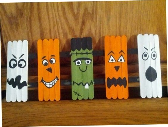 Interesting And Nice Popsicle Stick Crafts   handmadness - how to make halloween decorations for kids