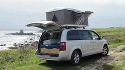 Dodge Caravan c&ervans for rent with roof top tents in California and Utah & Dodge Caravan campervans for rent with roof top tents in ...