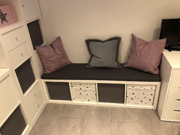 Die ultimative Kinderzimmer Eck-Kombination aus Ikea Kallax Regalen #toddlerrooms