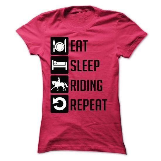 Sweatshirts Eat Sleep Horseback Riding Repeat T Shirt Tee Shirt