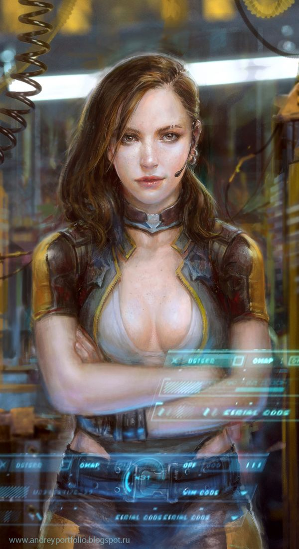 """art-of-cg-girls: """" Guys, this is our new mechanic! by Allnamesinuse """""""