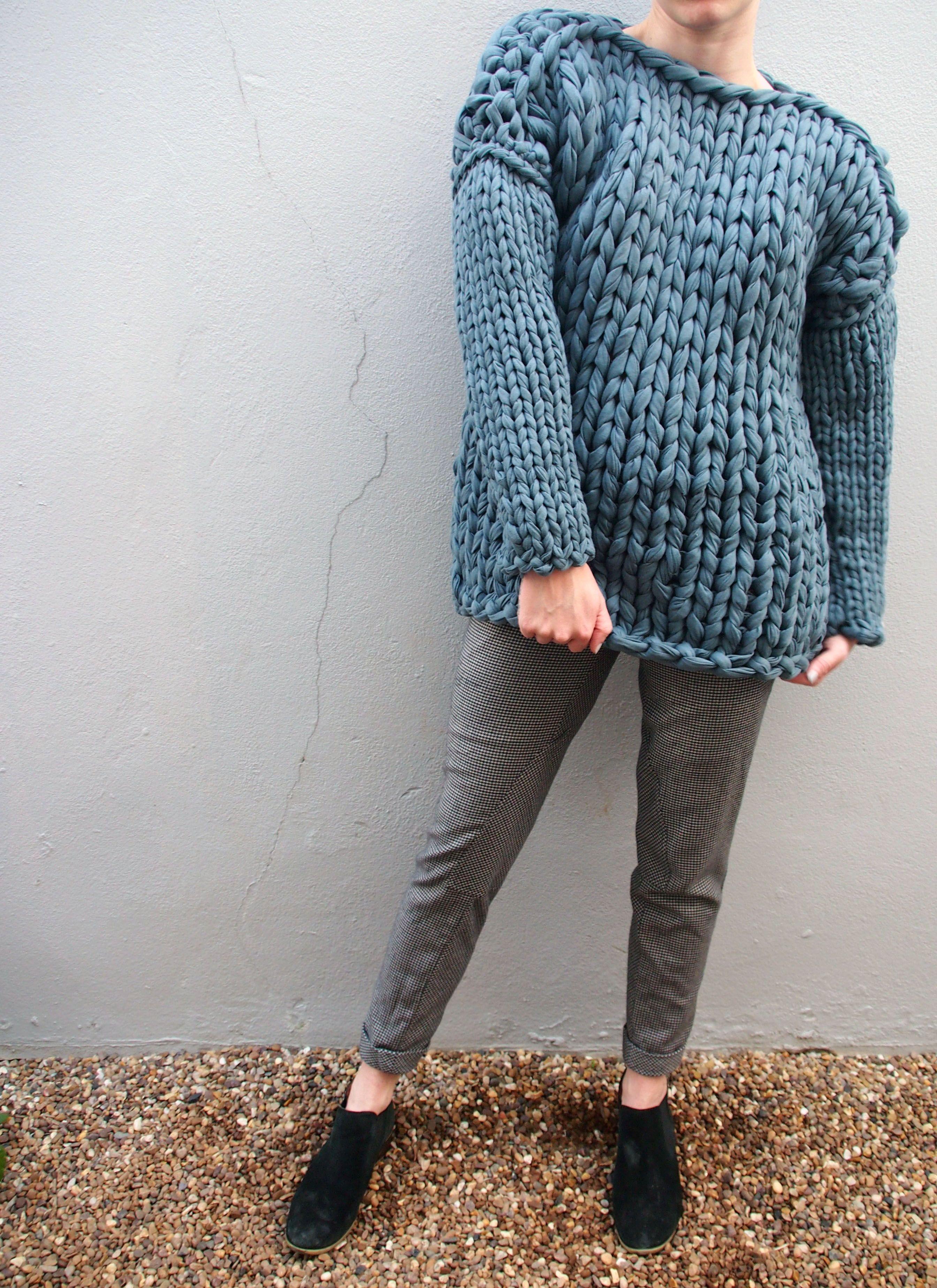 65c2179365a8 Gender fluid ZERO slate knit jumper. Available now www.xandrajane.com shop