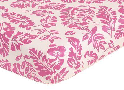 Tropical Hawaiian Leaf Print Crib Sheet Hawaiian And Tropical