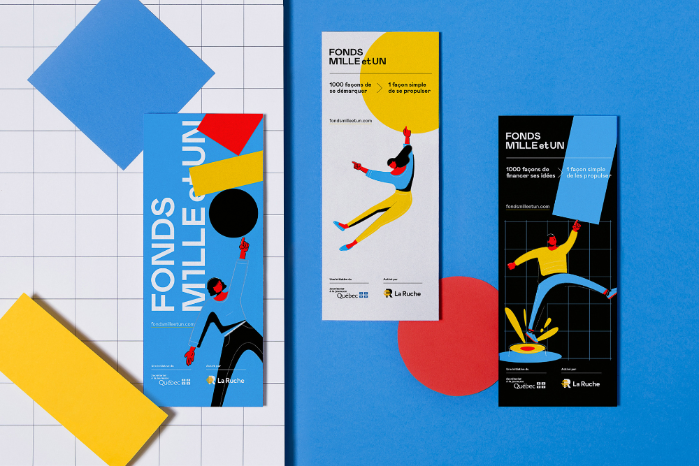 Fonds Mille et UN on Behance in 2020 Graphic design