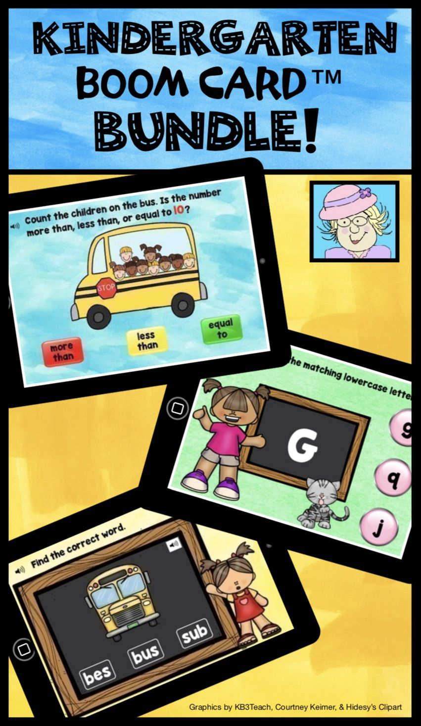 This Bundle Of Boom Cards Is Just Right For Kindergarten It