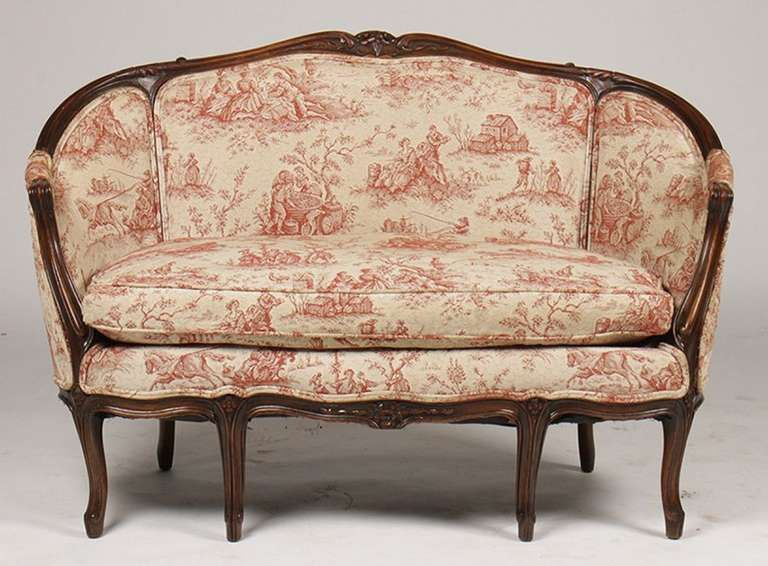Decorating With The French Cabriole Cabriolet Sofa Painted Sofa Cabriole Sofa Settee