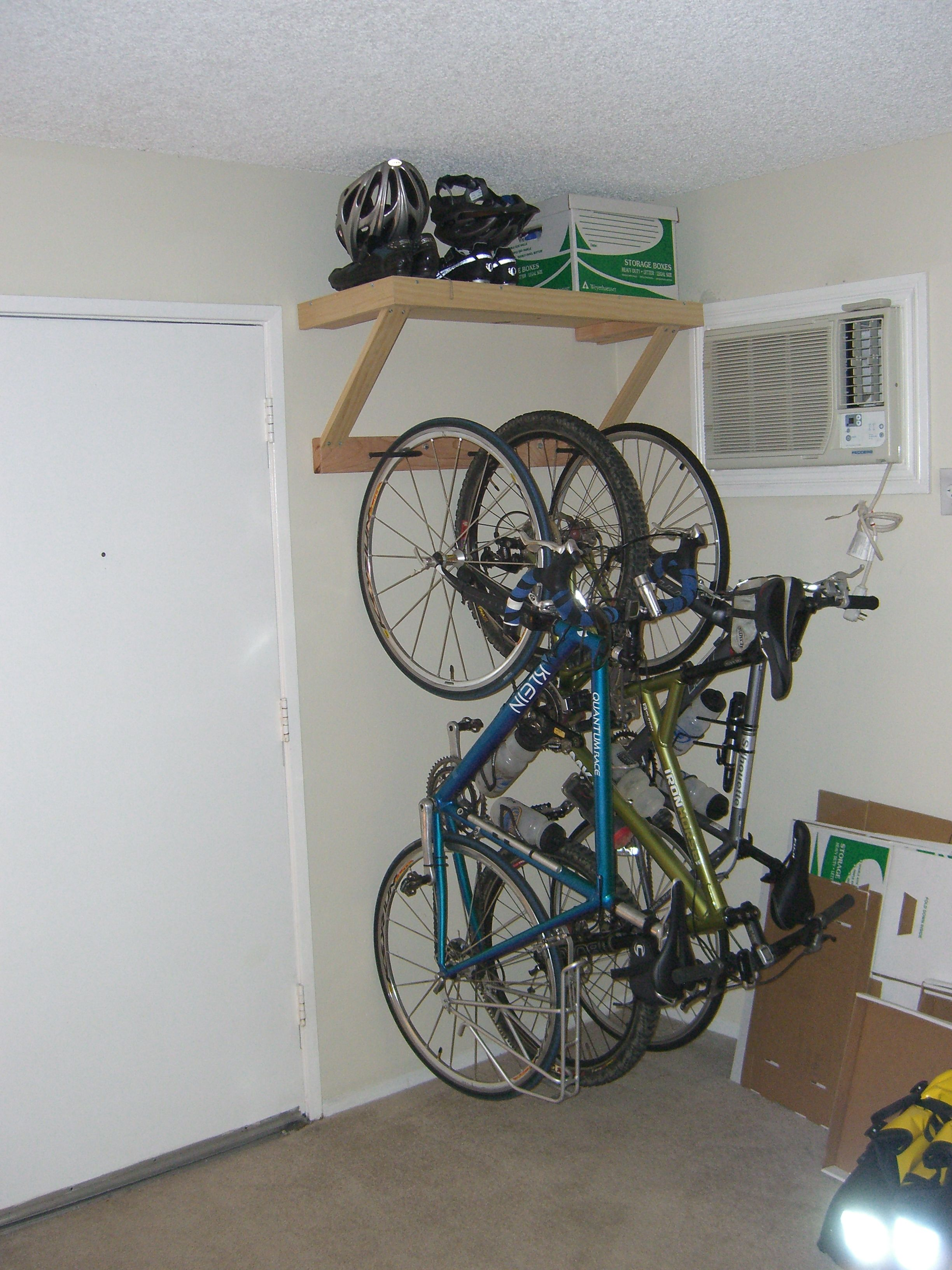 i like this idea of bicycle storage but i would want to. Black Bedroom Furniture Sets. Home Design Ideas