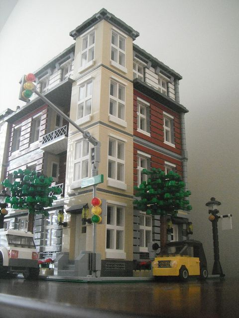 Midtown condos by wooootles lego pinterest lego for Lego modernes haus