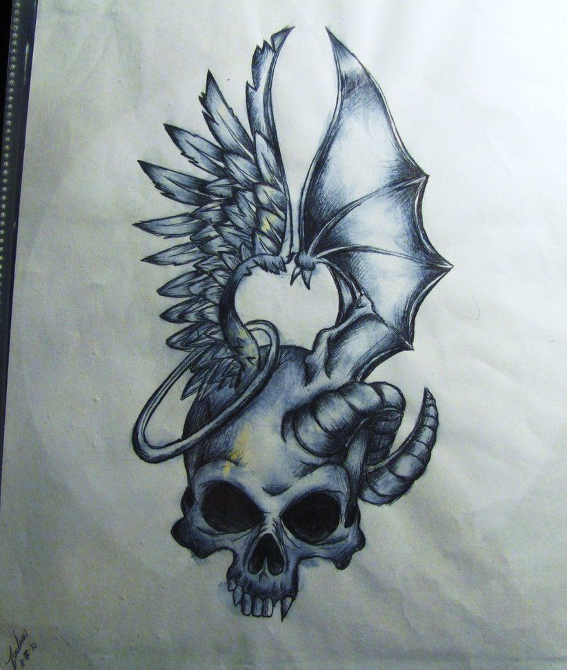 Tattoo Designs Evil: This Is An Update Of The Other One I Had Done Of This. I