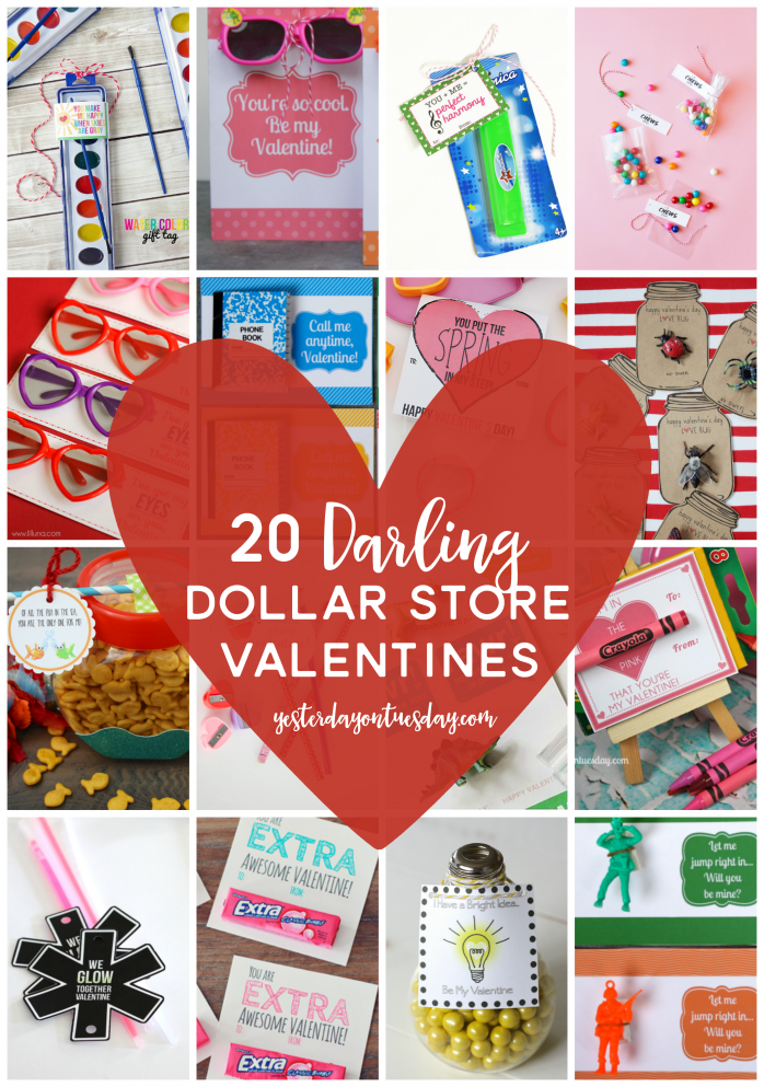 20 Darling Dollar Store Valentines Yesterday On Tuesday Valentine Gifts For Kids Diy Valentines Gifts Teacher Valentine Gifts