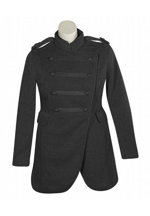 Last Kiss  Black Military Coat