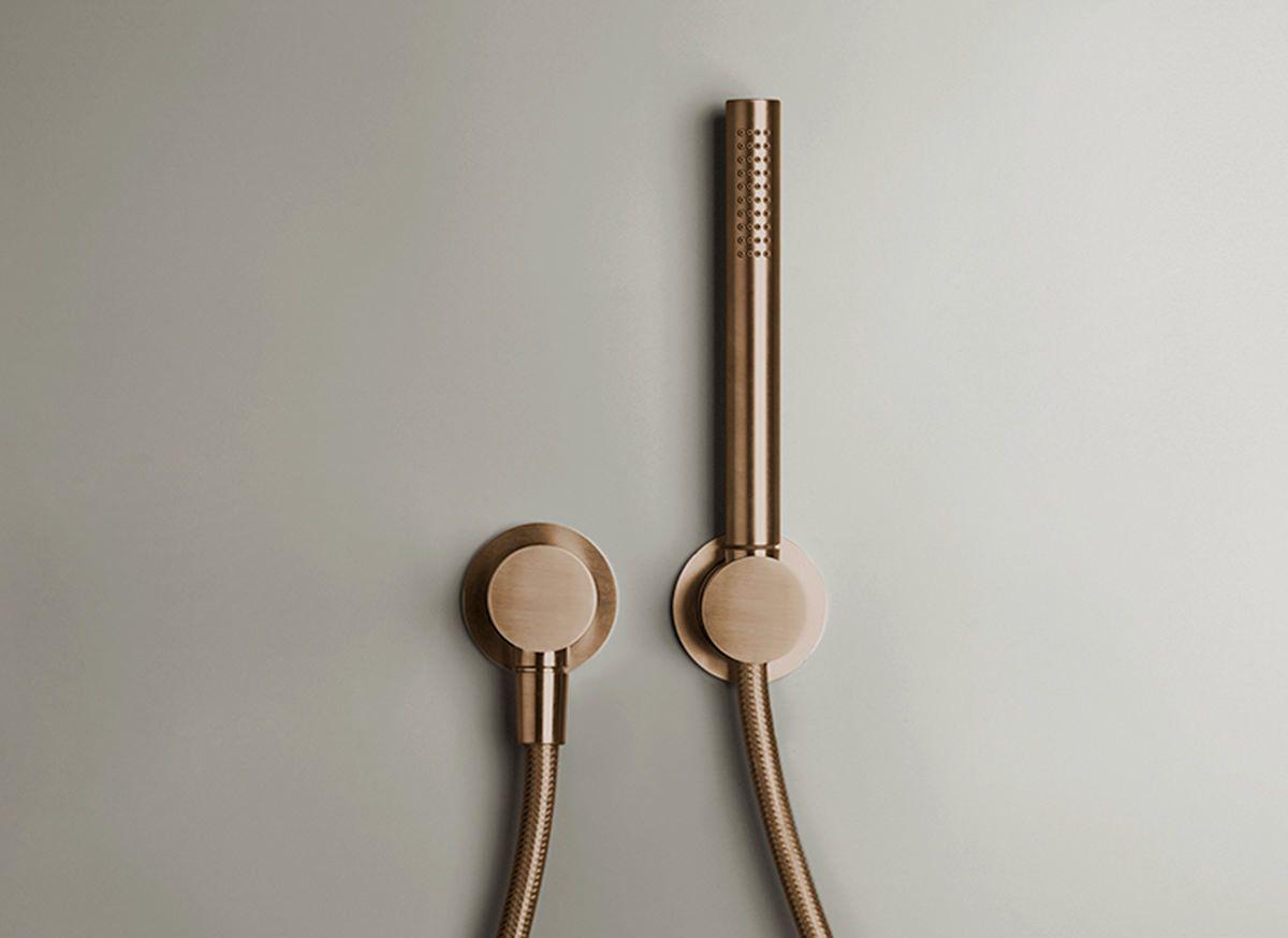 COCOON PB SET33 hand shower set - raw copper