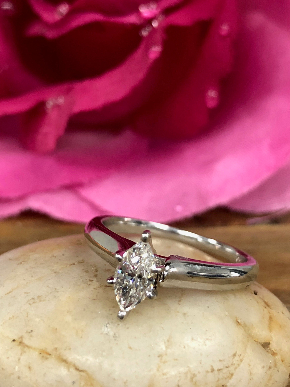 Marquise Shape Natural Diamond Engagement Promise Wedding ...