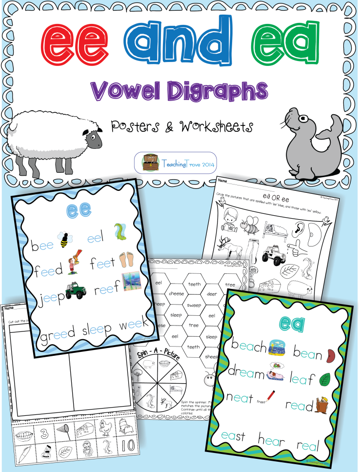 Ee And Ea Vowel Digraphs Activities And Posters Vowel Digraphs