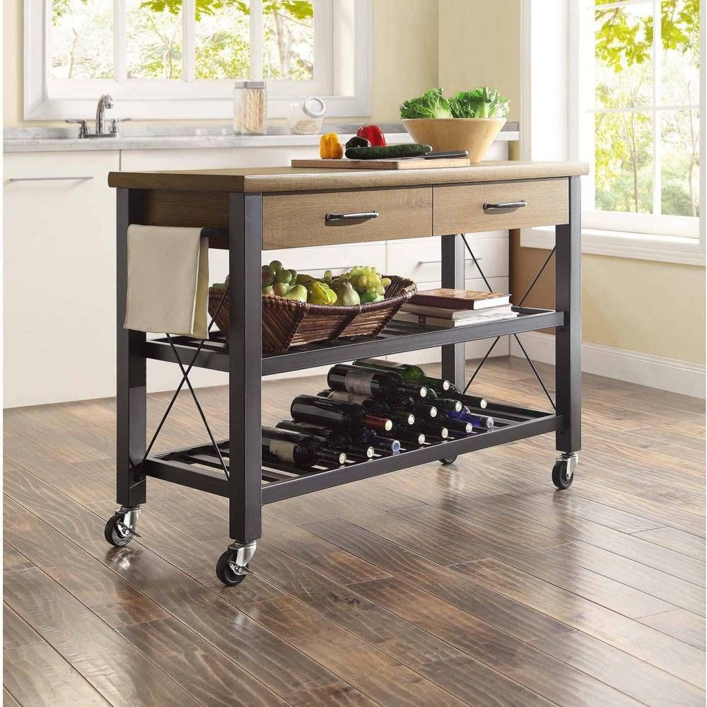 Kitchen Trolley Tv Stand Service Cart Table Industrial