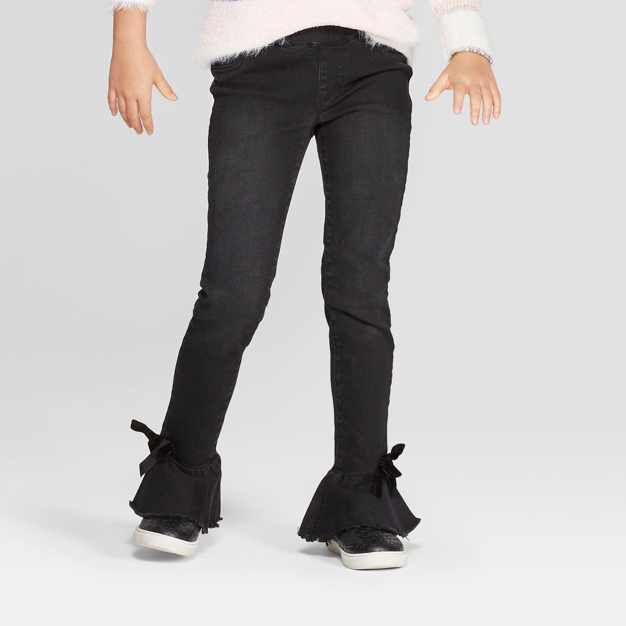 fad244efe Girls' Pull-On Ruffle Bottom Jeans - Cat & Jack Black 10 Slim | Products